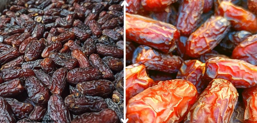 مقایسه خرمای پیارم طلائی و سیاه حاجی آباد